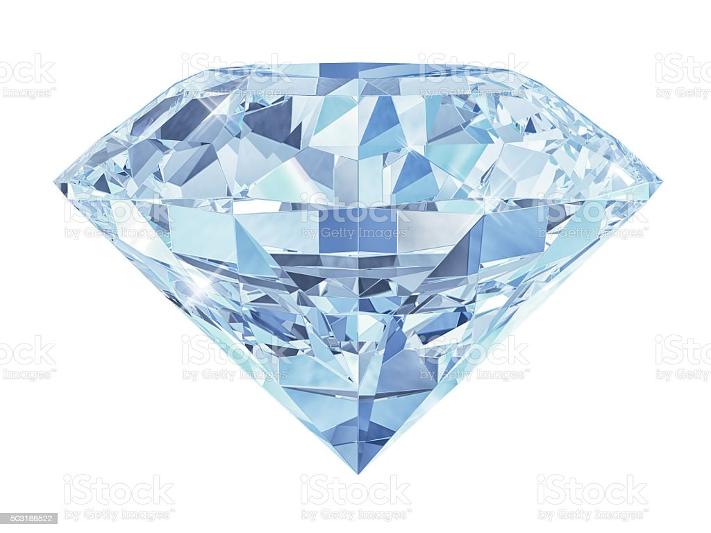 Blue diamond isolated stock photo