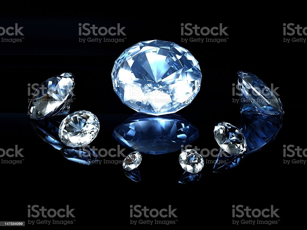 Blue diamonds royalty-free stock photo