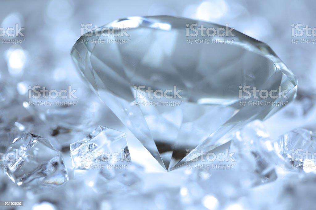 Голубые бриллиантами Стоковые фото Стоковая фотография