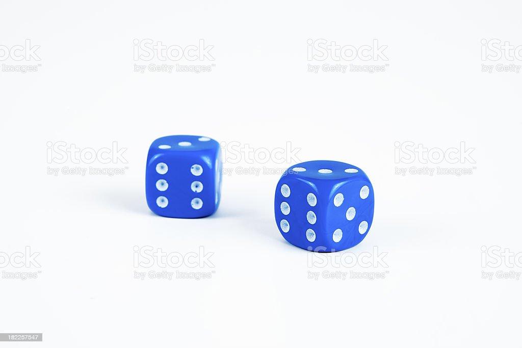 blue dice stock photo