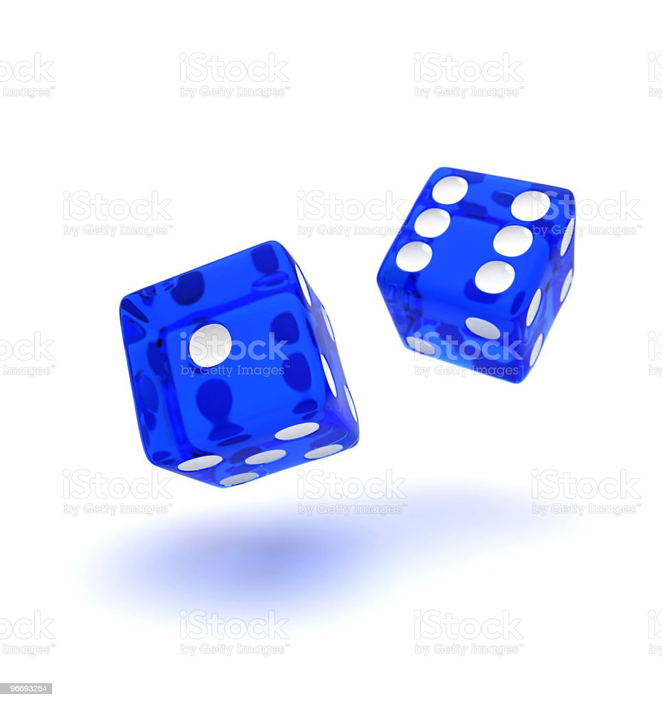 Blue dice royalty-free stock photo