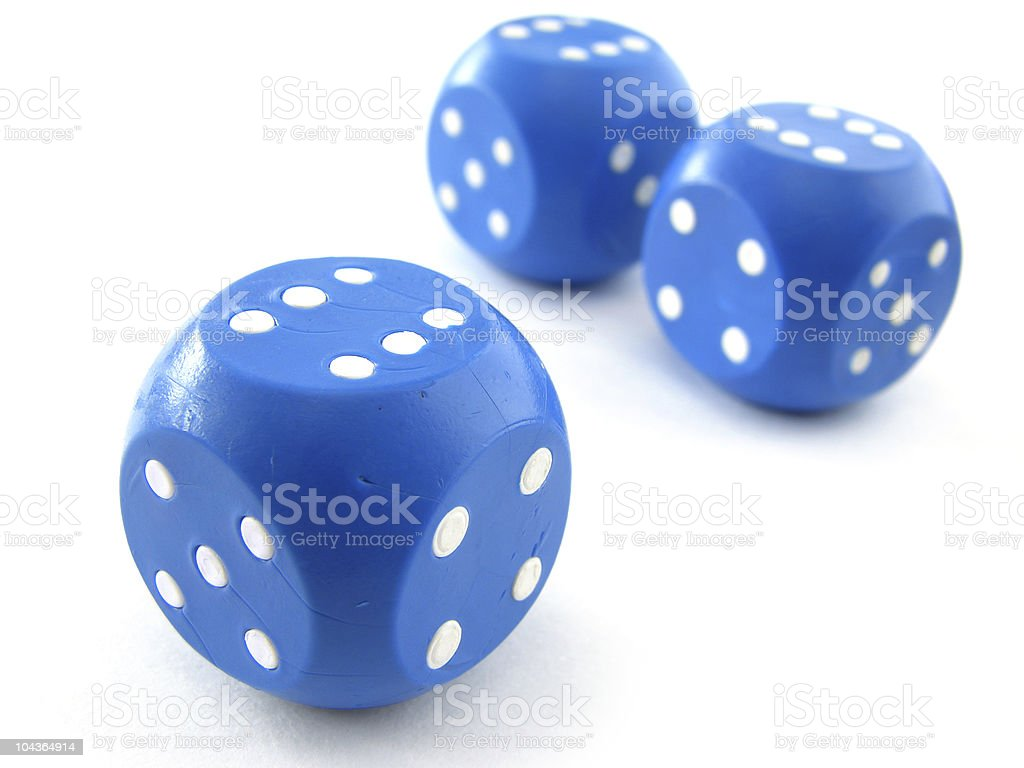 blue dices royalty-free stock photo