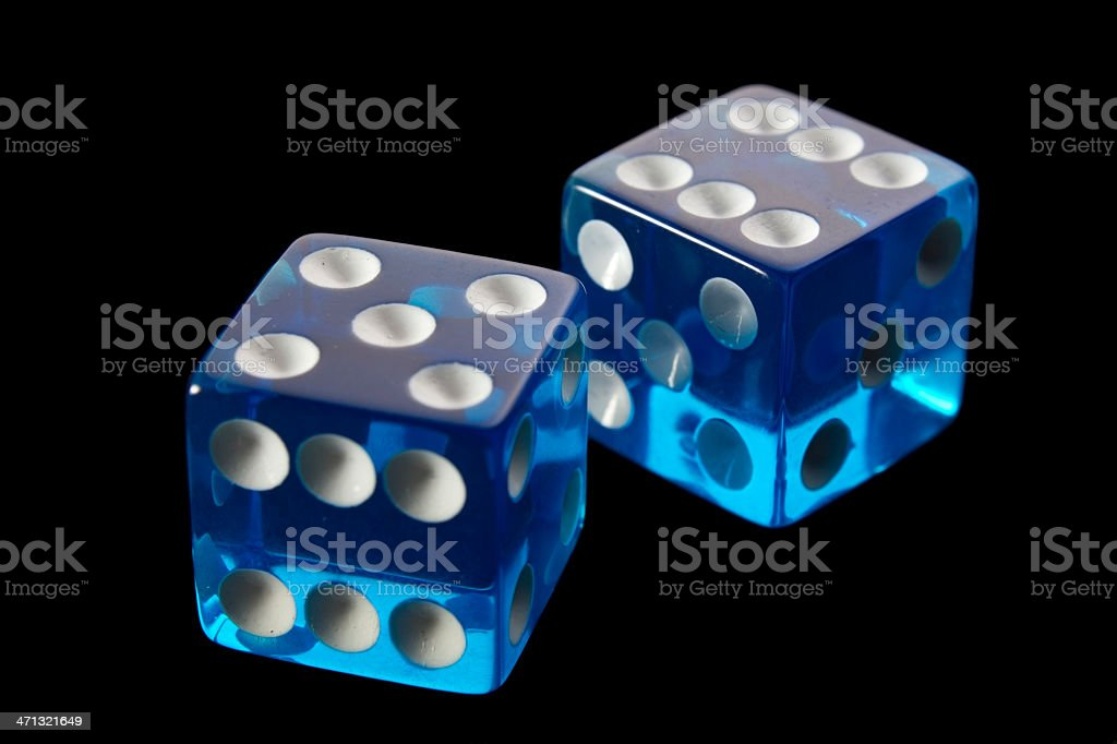 Blue Die royalty-free stock photo