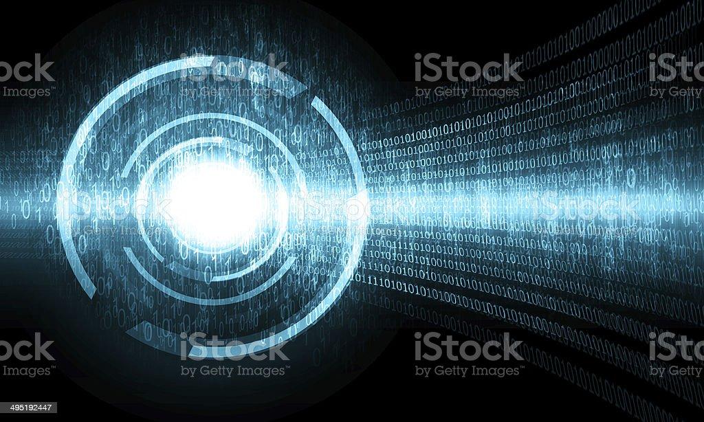 blue digital technology background stock photo