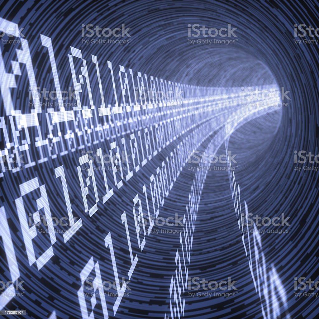 blue digital tunnel stock photo