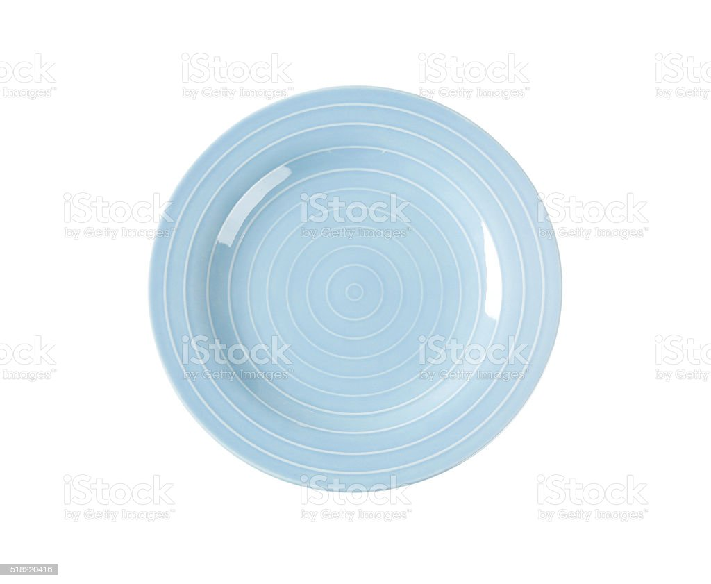 Blue dinner plate stock photo