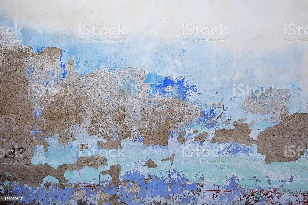 Blue dirty wall royalty-free stock photo