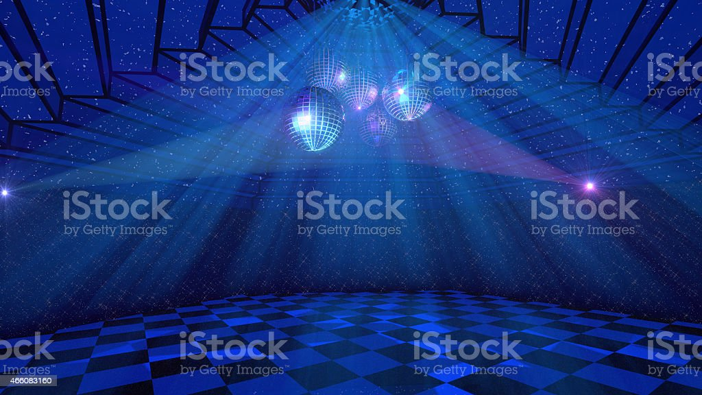Blue disco background stock photo