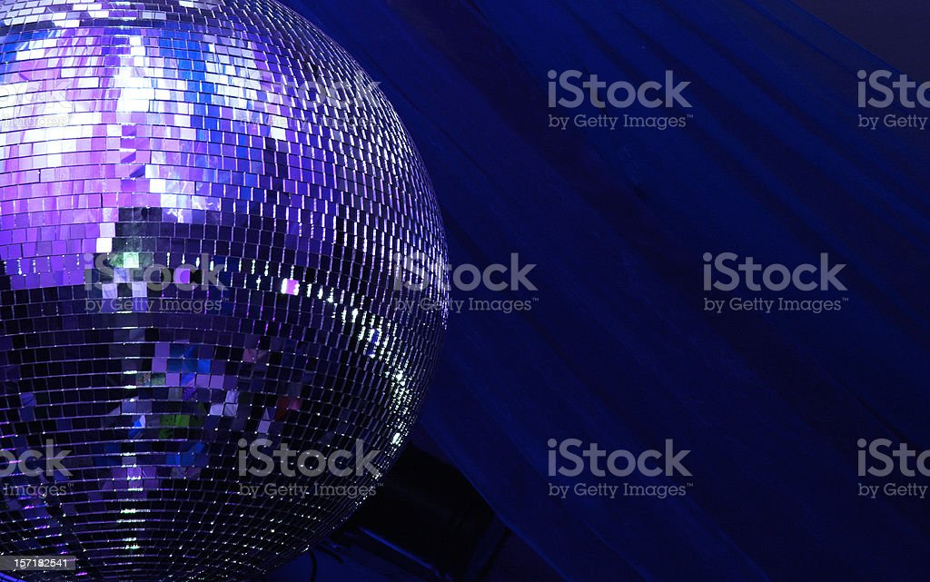 blue disco glitterball sphere stock photo