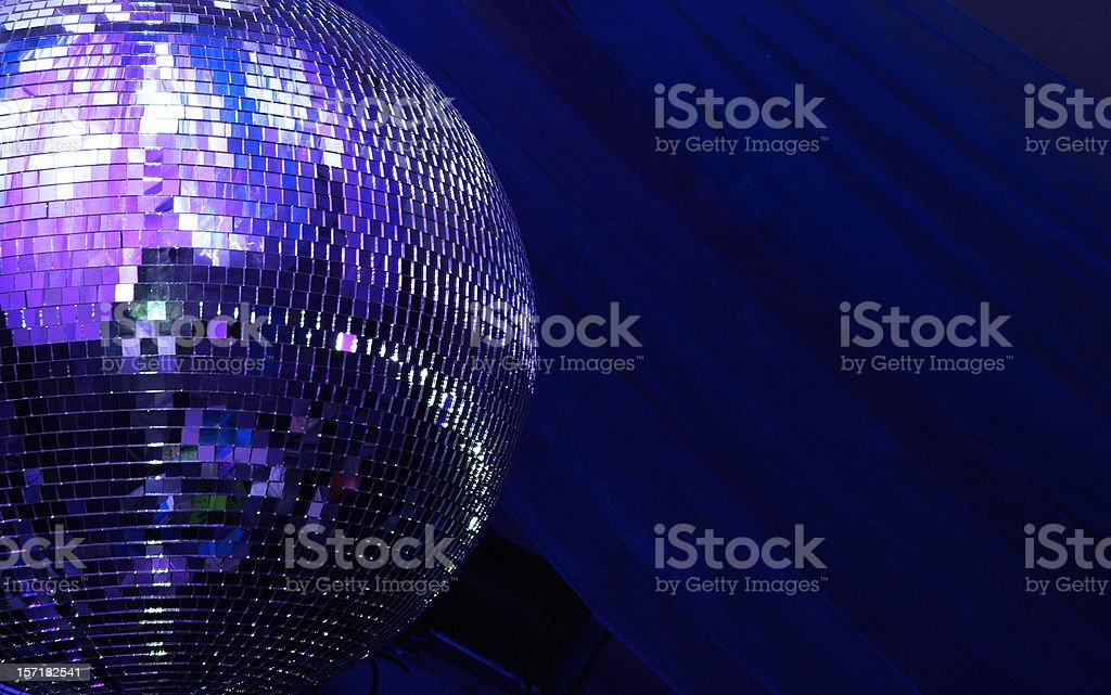blue disco glitterball sphere stock photo