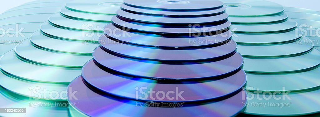 Blue disks royalty-free stock photo