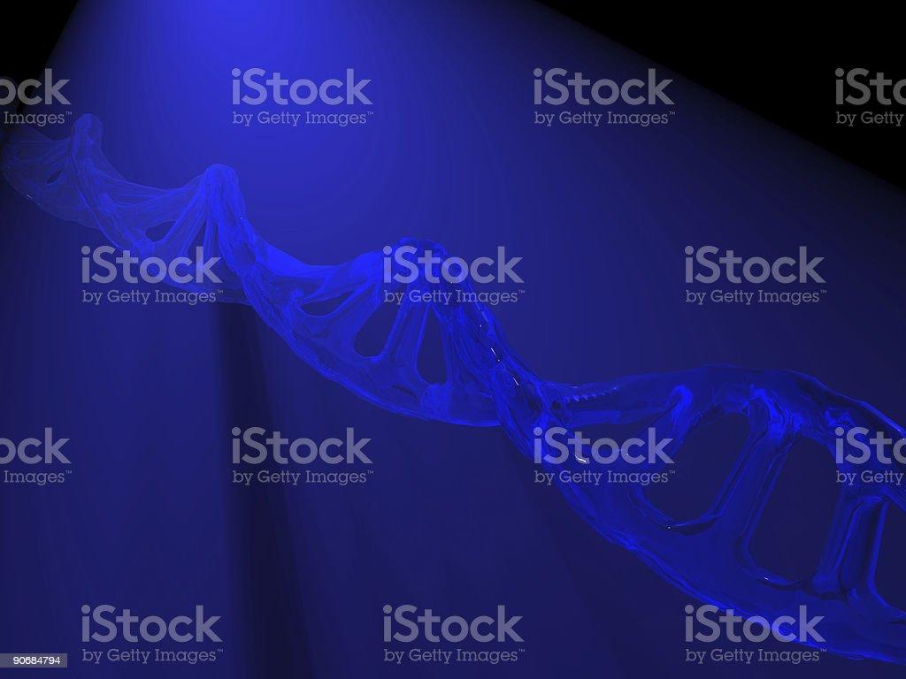Blue DNA in spotlight royalty-free stock photo