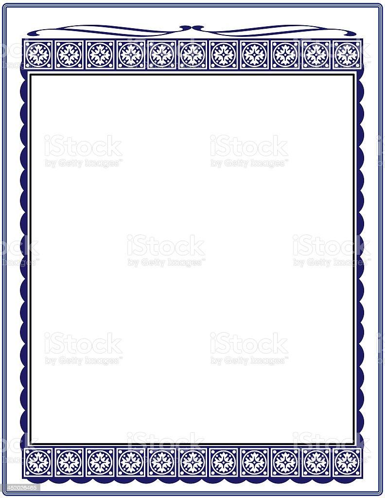 Blue Document Frame stock photo