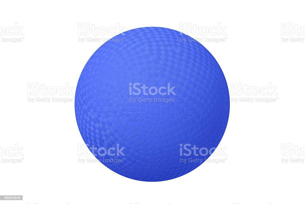 Blue dodgeball stock photo