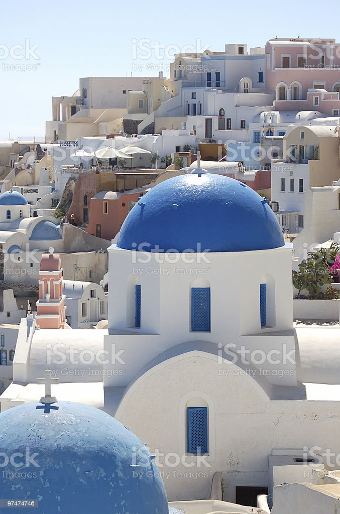 Blue Dome and Cross royalty-free stock photo