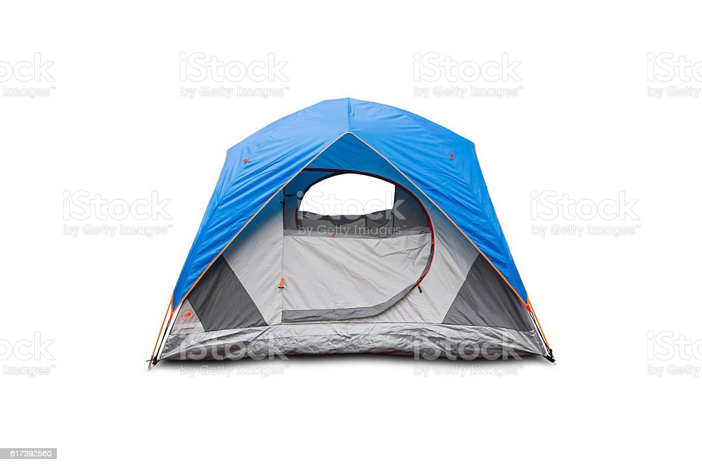Blue dome tent stock photo