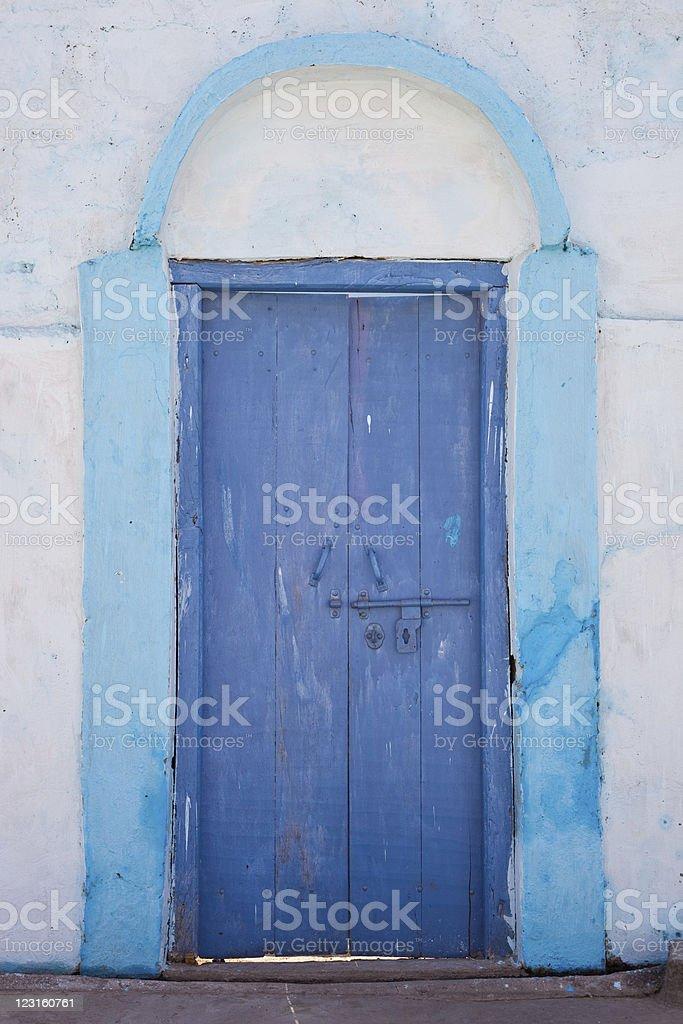 Blue Door royalty-free stock photo