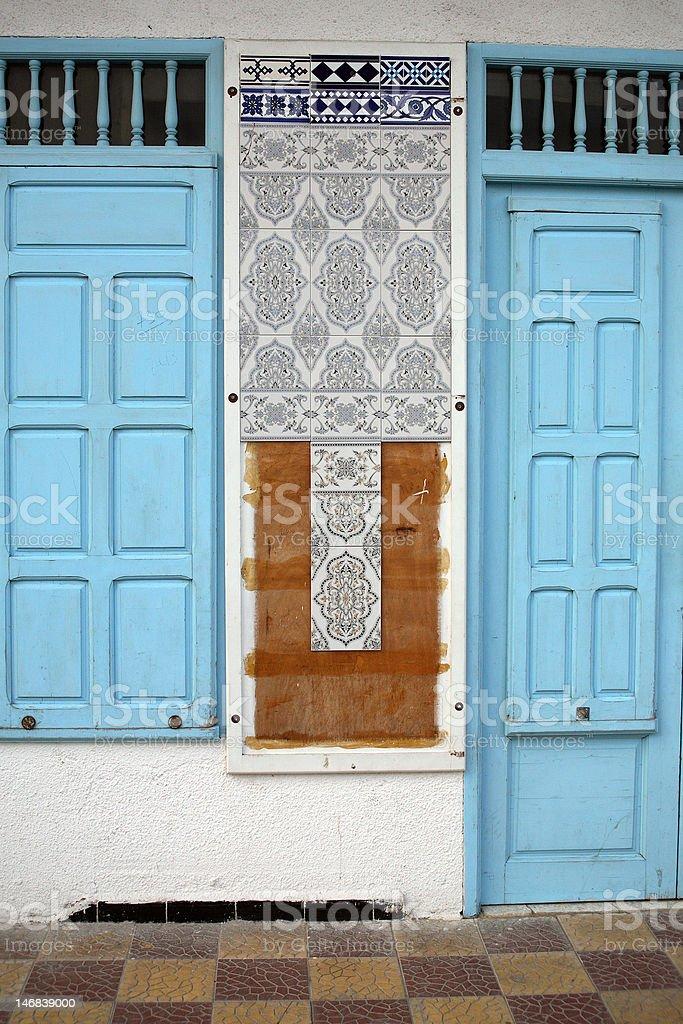 blue porte photo libre de droits
