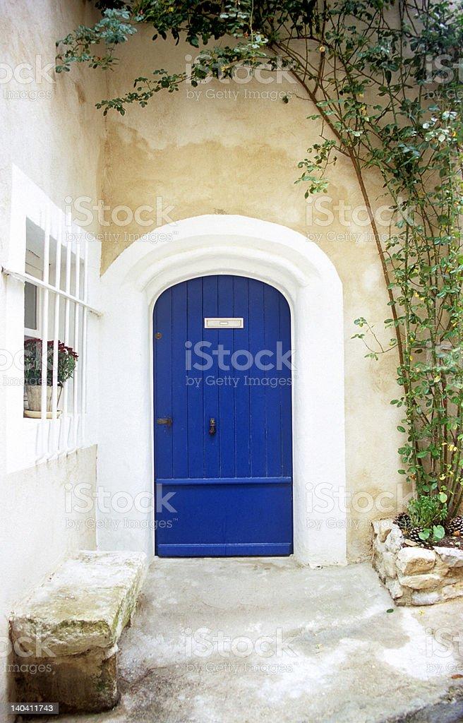 Blue Door - Provence royalty-free stock photo