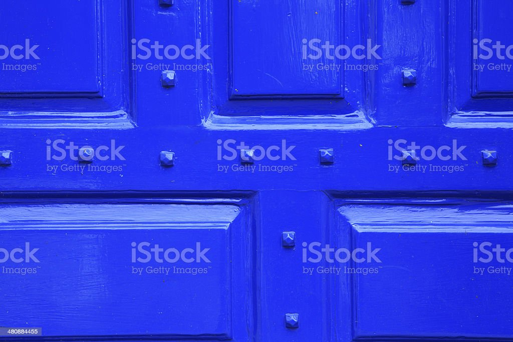 blue door surface detail royalty-free stock photo