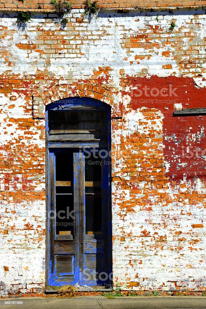 Blue Doorway stock photo