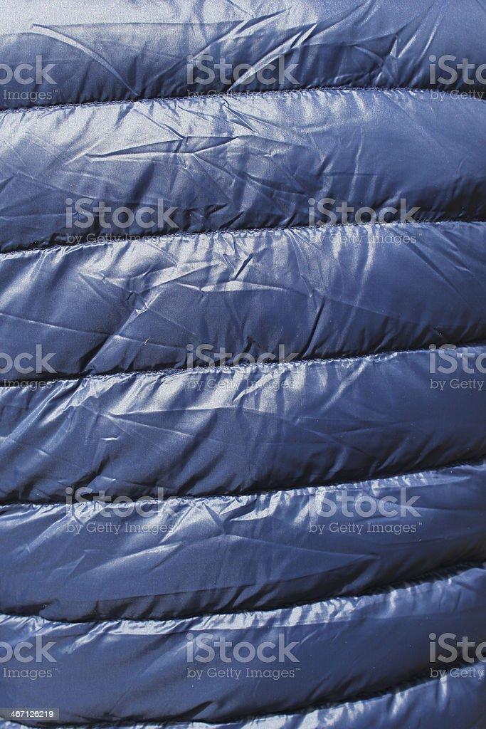 blue down jacket stock photo