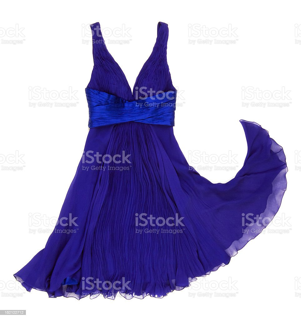 Blue Dress stock photo