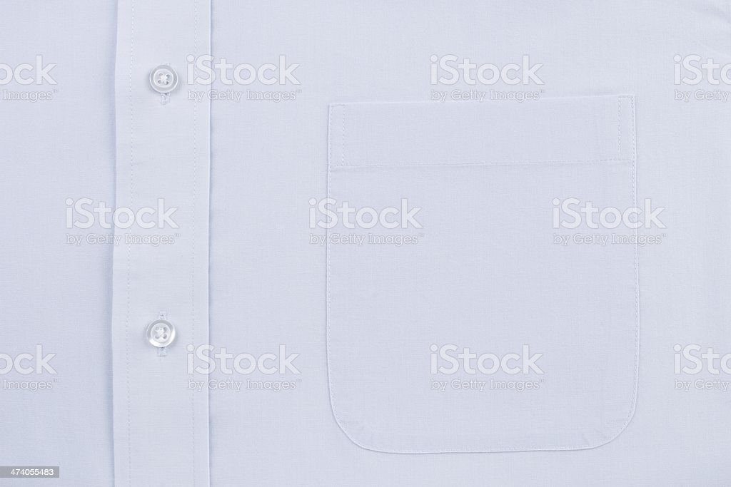 Blue Dress Shirt Pocket stock photo