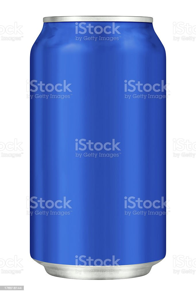 Blue Drink Can With Clipping Path royalty-free stock photo