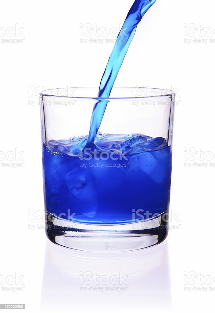 Blue drink stock photo