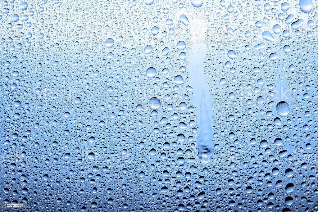 Blue drops royalty-free stock photo