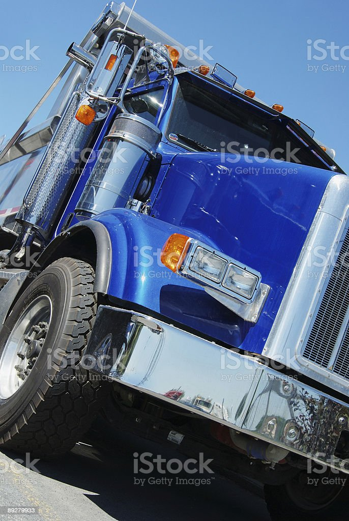 Blue dump truck royalty-free stock photo