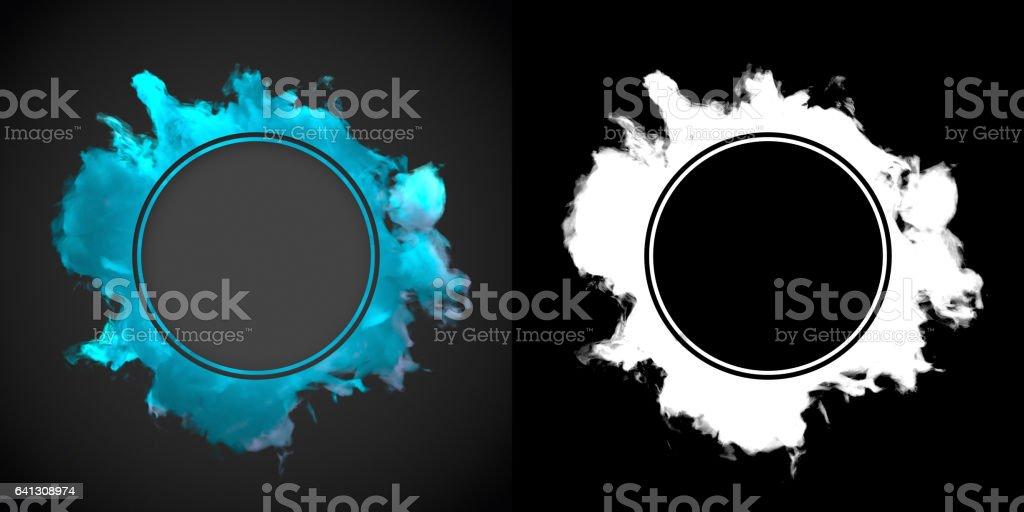 Blue dust wave on dark background 3d rendering stock photo