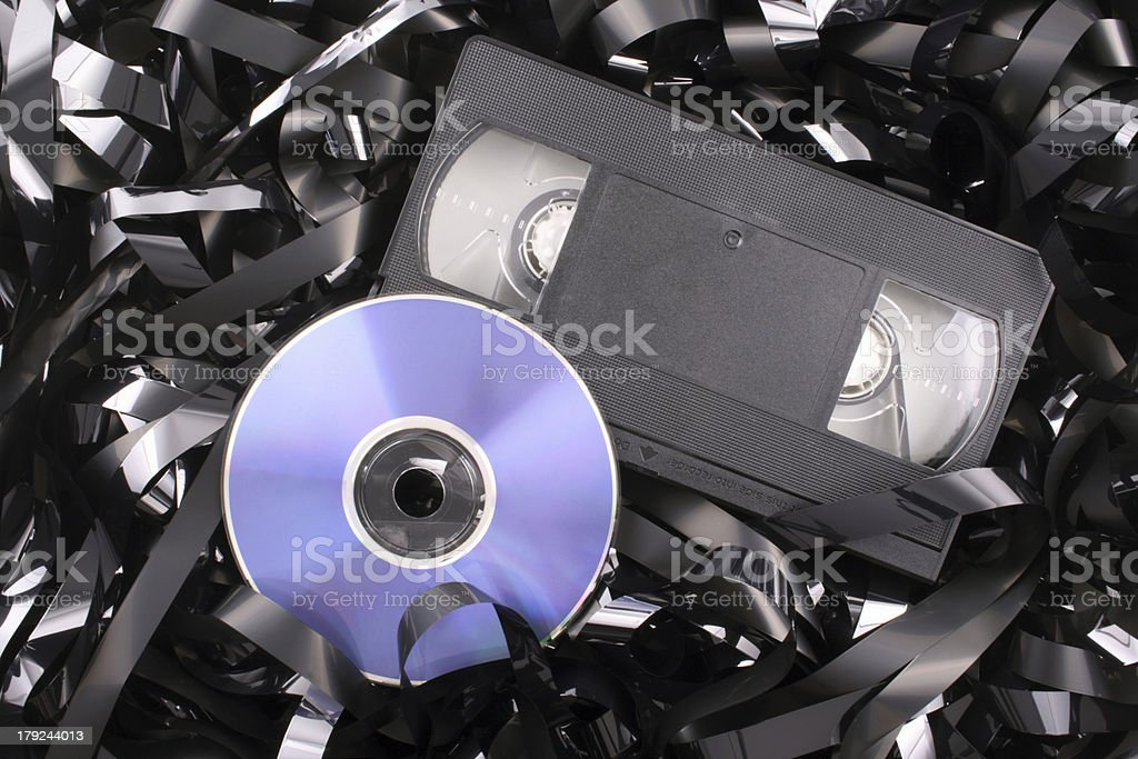 Blue DVD film stock photo