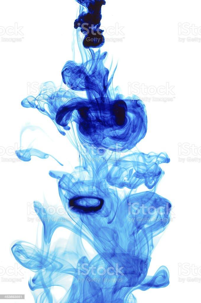 Blue Dye stock photo