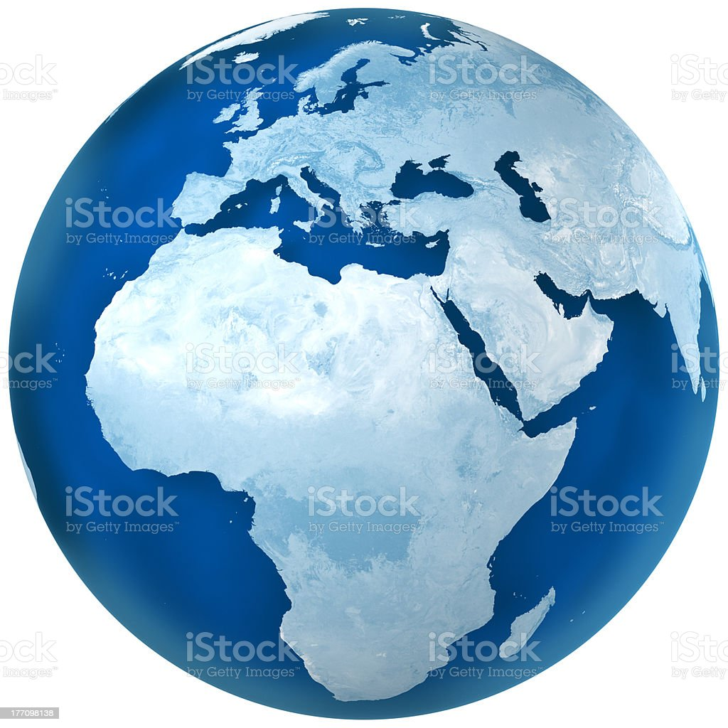 Blue Earth - Africa, Europe, and Middle East stock photo