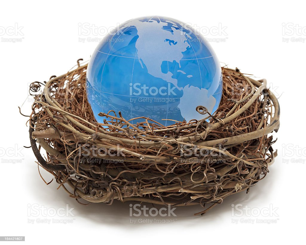 Blue Earth - North America royalty-free stock photo