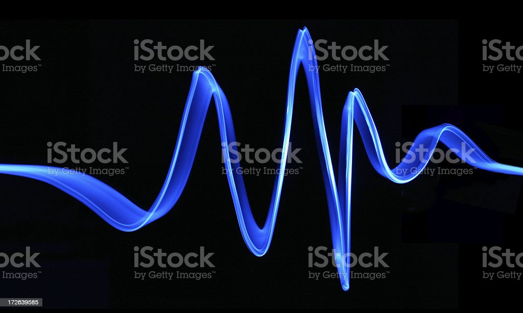 Blue Electron Wave stock photo