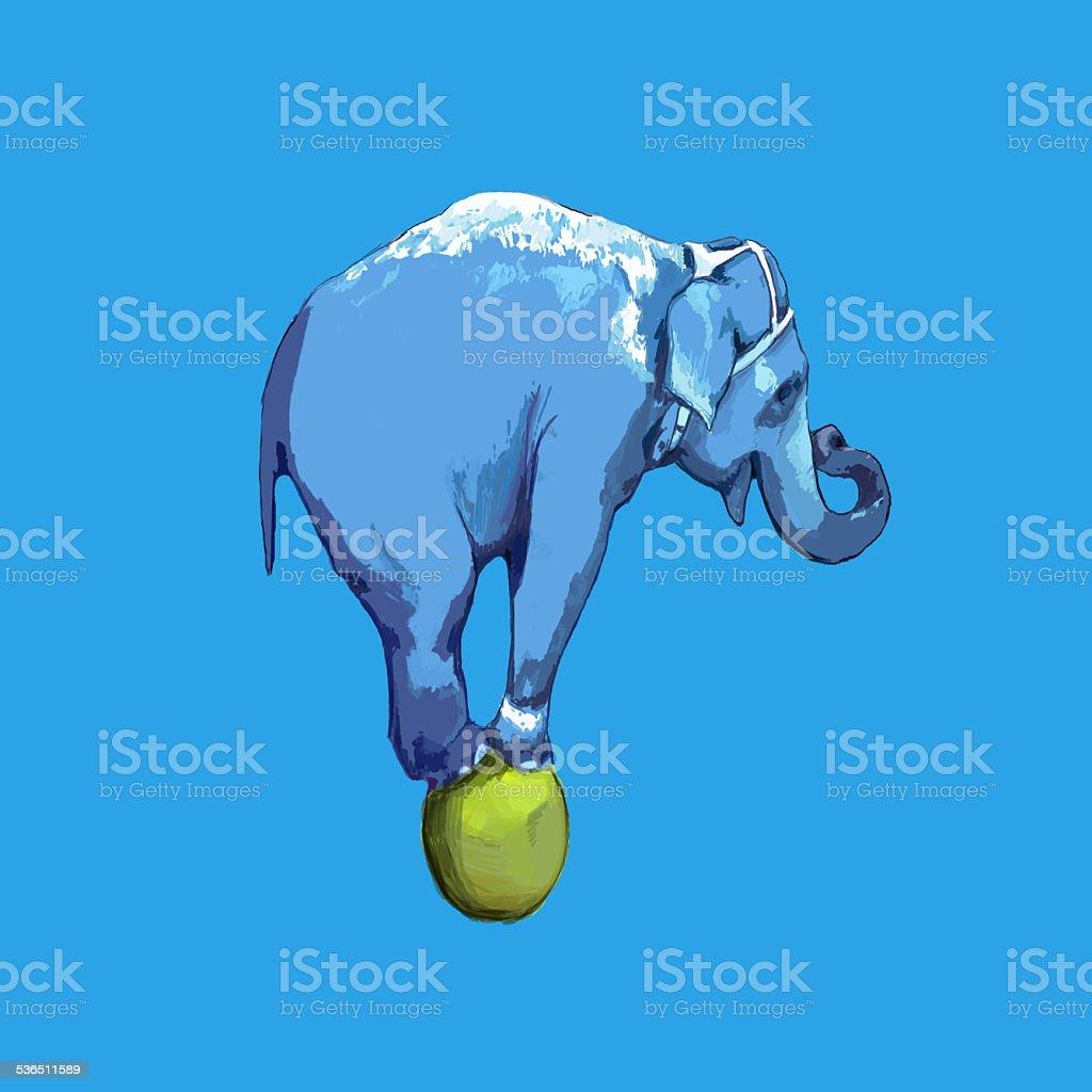 Blue elefant stock photo
