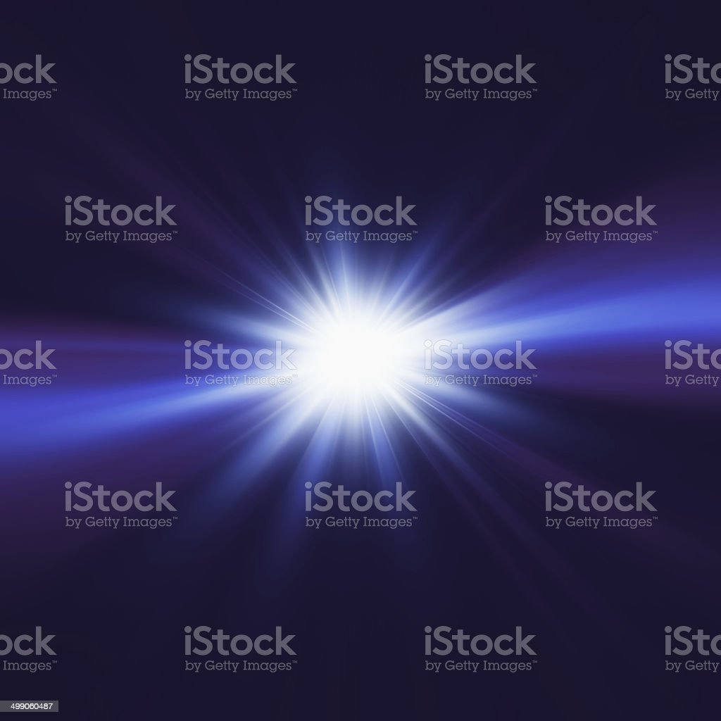 Blue elegant design with light burst in center stock photo