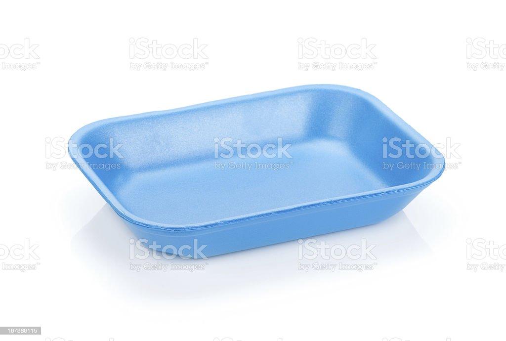 Blue empty food tray royalty-free stock photo