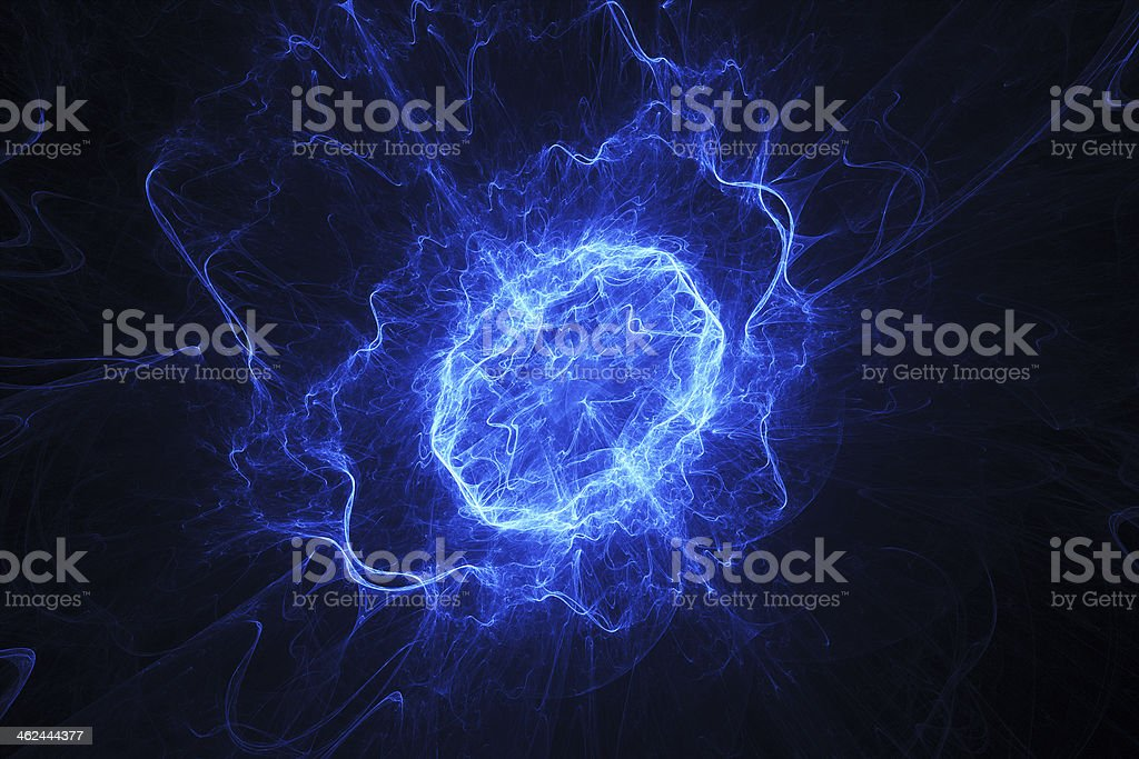 Blue energy oval royalty-free stock photo