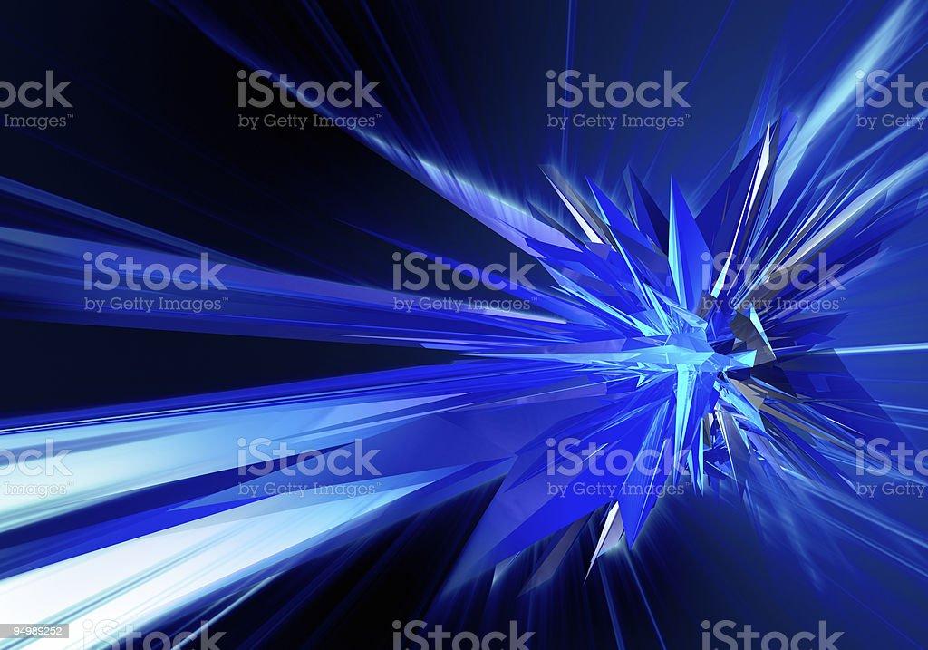 Blue explosion. Extra large size royalty-free stock photo