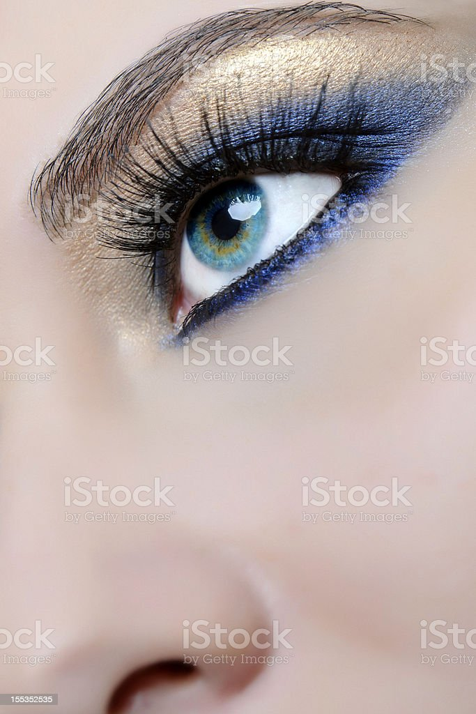 blue eye close-up stock photo