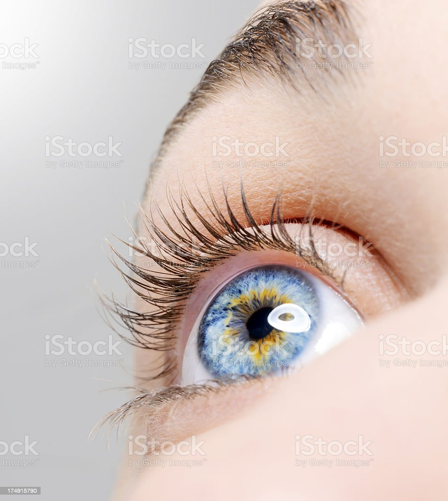 blue eye looking up royalty-free stock photo
