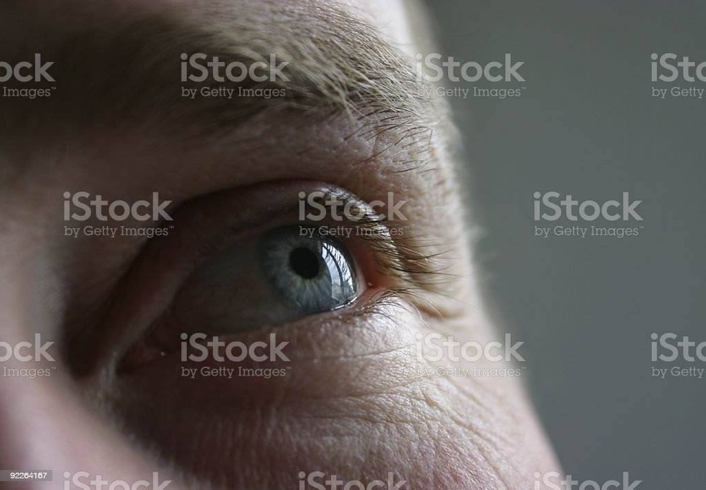 blue eye: looking up royalty-free stock photo