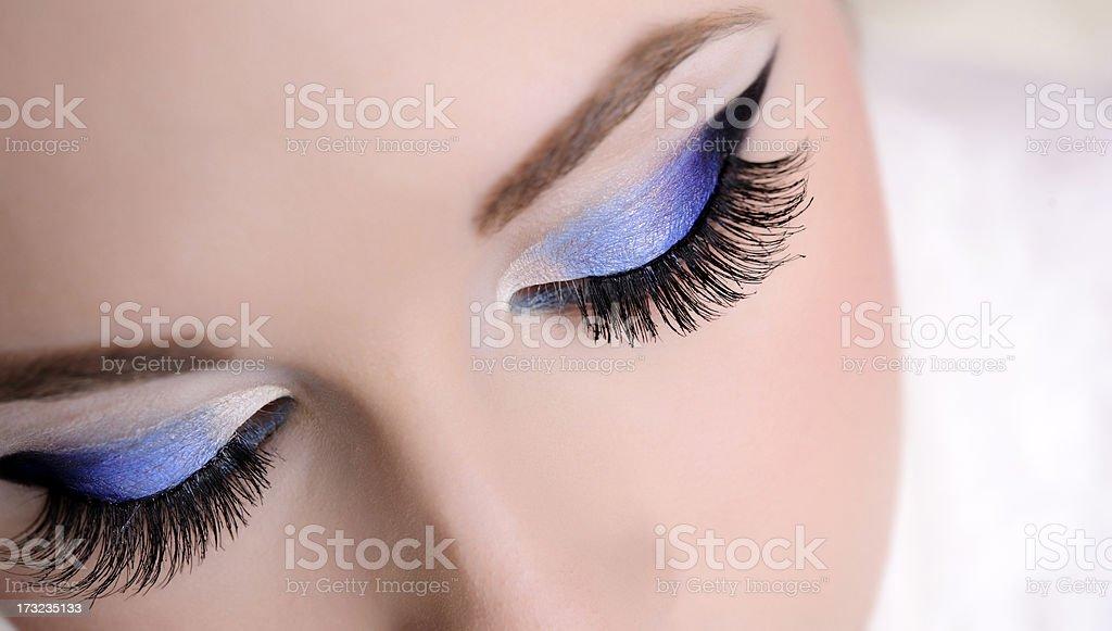blue eye makeup royalty-free stock photo