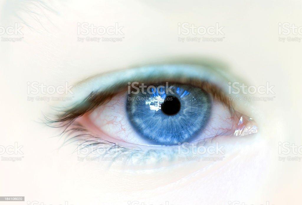 Blue eye stock photo