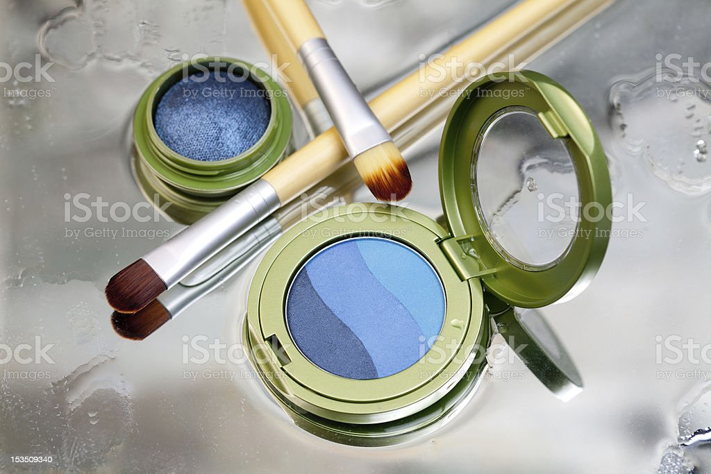 Blue eye shadow royalty-free stock photo