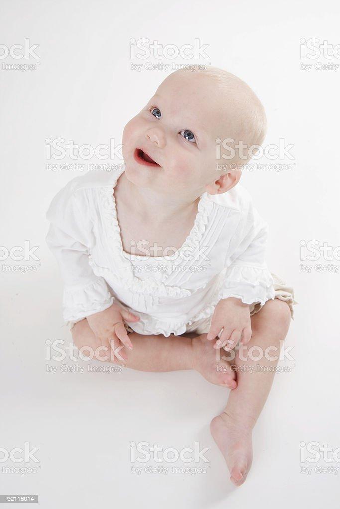 Blue Eyed Baby royalty-free stock photo